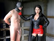 Leather Domme's Toy Boy