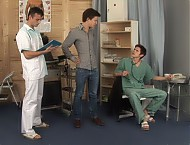 Martin, Rado and Pavel gay clinic examination
